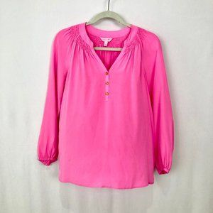 Lilly Pulitzer Long Sleeve Pink Elsa Top